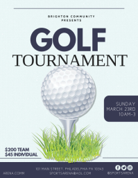 Golf Flyer (US Letter) template