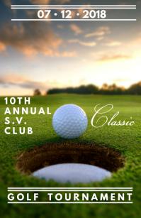 Golf Tabloid template