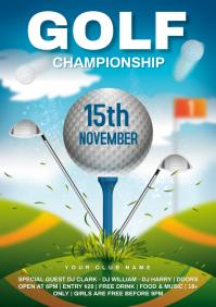 Golf A4 template