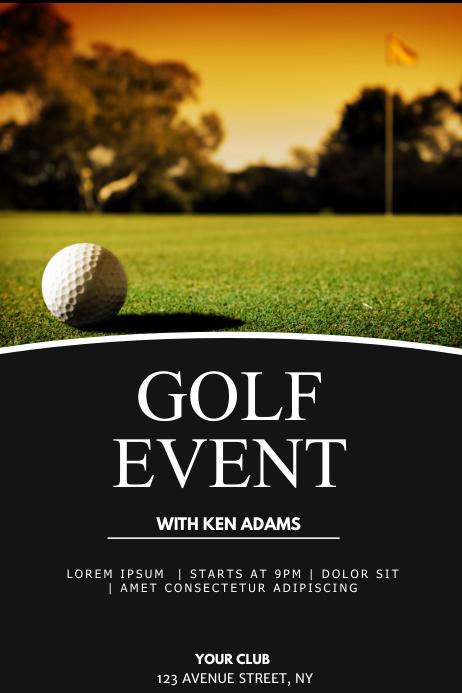 Golf event flyer template Poster