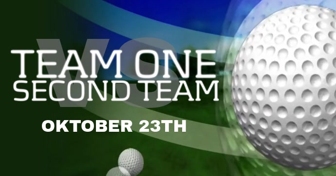 Golf Facebook video post template
