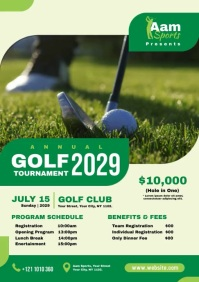 Golf Flyer A4 template
