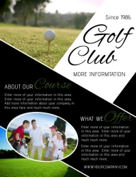 GOLF Flyer (US Letter) template