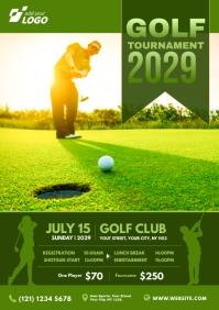 Golf Flyer Template A4