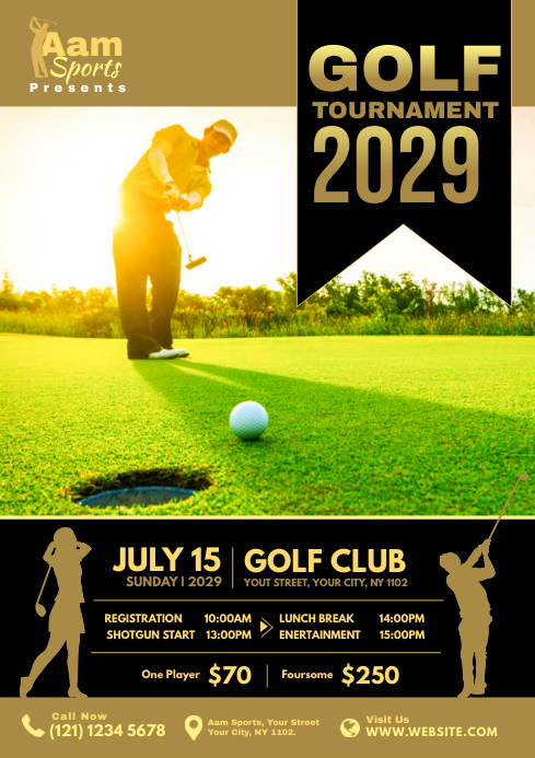Golf Flyer Template A4