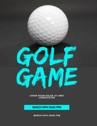 GOLF GAME Flyer (US Letter) template