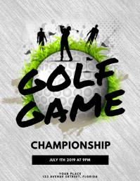 Golf Game Flyer Template Pamflet (Letter AS)