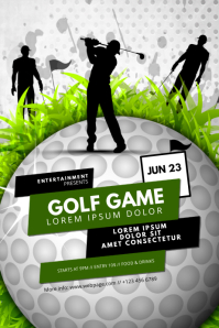 Golf Game Flyer Template