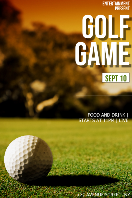 Golf game flyer template Poster