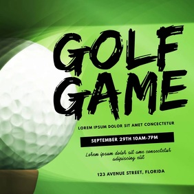Golf Game Video Ad template Cuadrado (1:1)