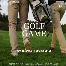 Golf game video flyer template