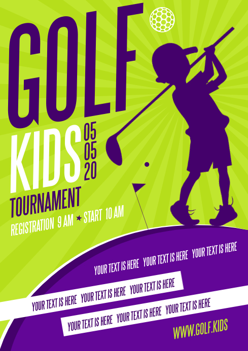 GOLF KIDS POSTER A4 template