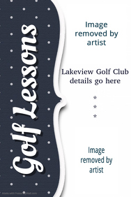 Golf Lessons Corporate Event Flyer Small Business Template