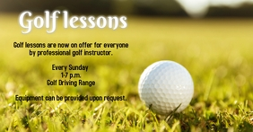 Golf Lessons Anúncio do Facebook template
