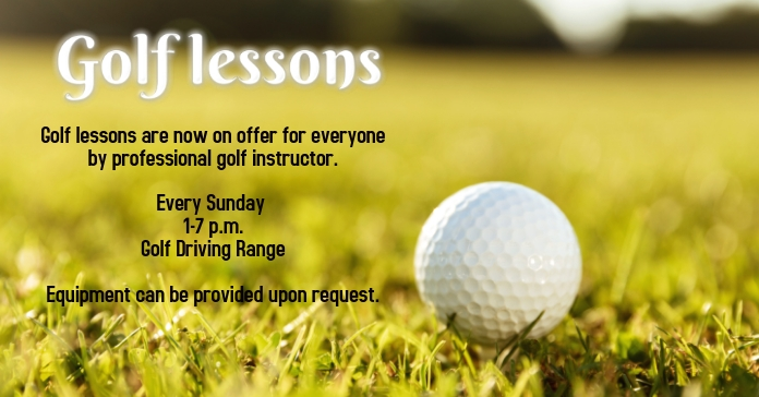 Golf Lessons Facebook-Anzeige template