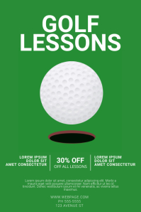 Golf lessons flyer template Poster