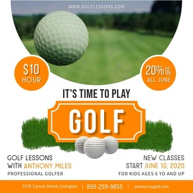 Golf Lessons Instagram post Quadrat (1:1) template