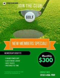 golf membership FLYER TEMPLATE Pamflet (VSA Brief)
