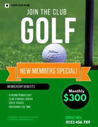 golf membership FLYER TEMPLATE