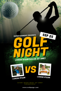 Golf night Flyer Template