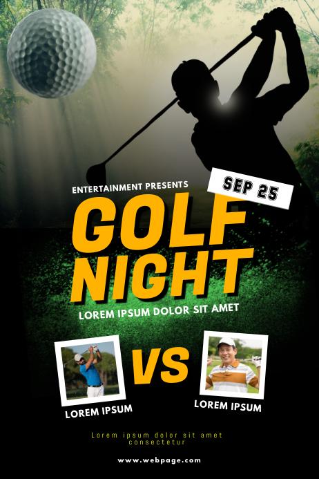 Golf night Flyer Template Poster