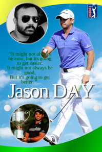 Golf Player Poster template