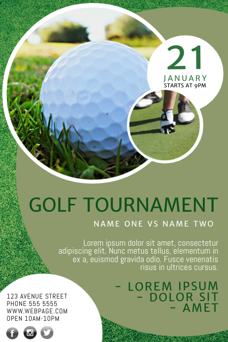 golf flyer template postermywall