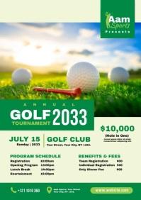 Golf Tournament Ad A4 template