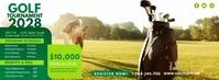 Golf Tournament Ad Foto Sampul Facebook template