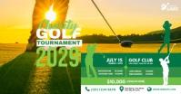 Golf Tournament Ad Gambar Bersama Facebook template