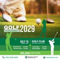 Golf Tournament Ad Pos Instagram template