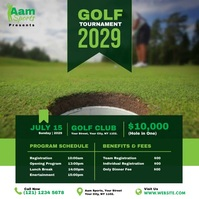 Golf Tournament Ad โพสต์บน Instagram template
