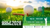 Golf Tournament Ad Post di Twitter template