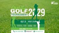 Golf Tournament Ad Twitter-opslag template