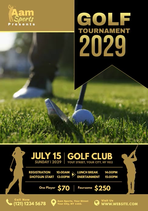 Golf Tournament Ad A4 template