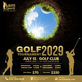 Golf Tournament Advert Instagram Post template