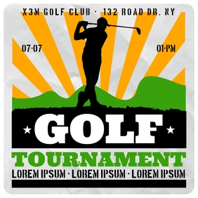 GOLF TOURNAMENT BANNER โพสต์บน Instagram template