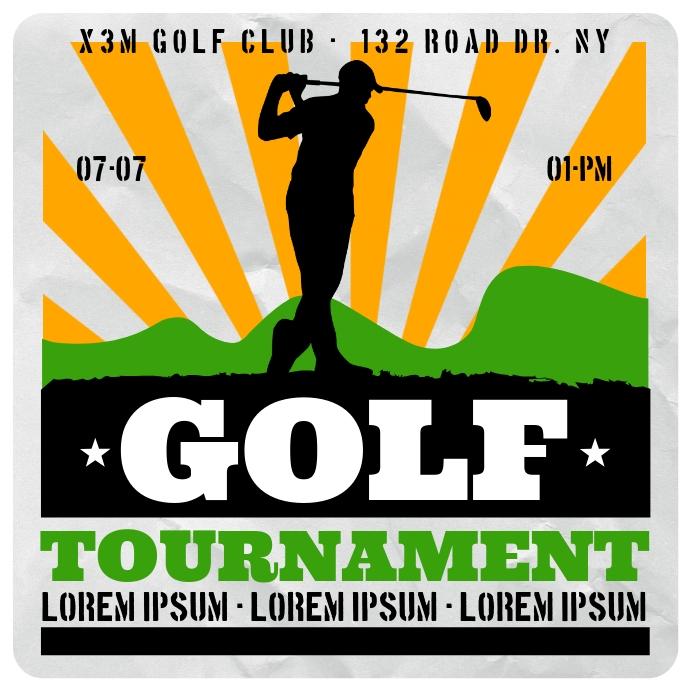 Golf Tournament Banner Template Postermywall
