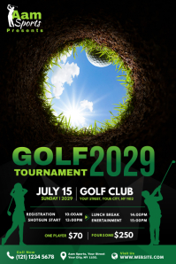 Golf Tournament Banner Bannière 4' × 6' template