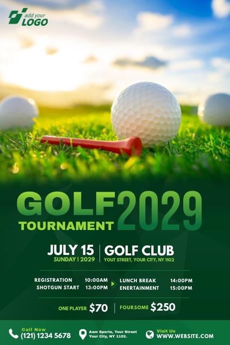 Golf Tournament Banner template