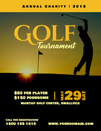 Golf Tournament Charity Master Poster Flyer