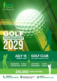 Golf Tournament A4 template