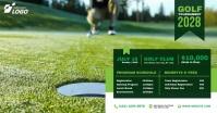 Golf Tournament auf Facebook geteiltes Bild template