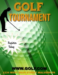 GOLF TOURNAMENT Flyer (Letter pang-US) template