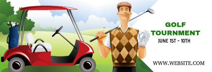 Golf Tournament Spanduk LinkedIn template