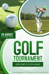 Golf Tournament Event Flyer Poster Template