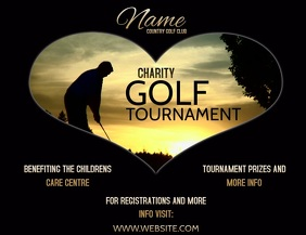 GOLF TOURNAMENT FLYER AD POSTER