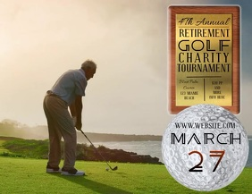 GOLF TOURNAMENT FLYER AD POSTER TEMPLATE