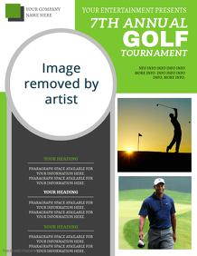 Golf Tournament Flyer ad Template