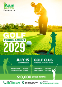Golf Tournament flyer A4 template
